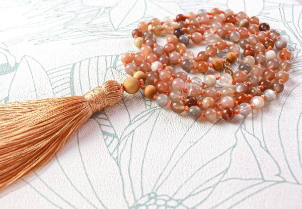 collier pierre orange