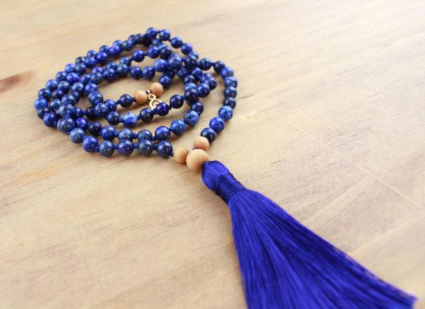 chapelet mala lapis lazuli