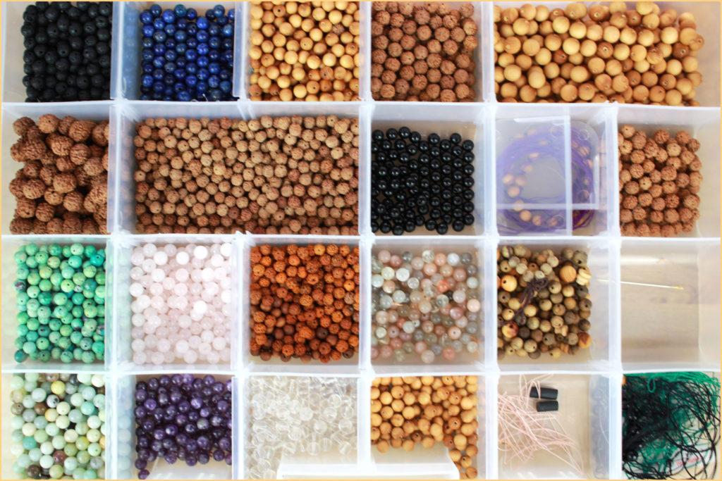 malla rangement de perles